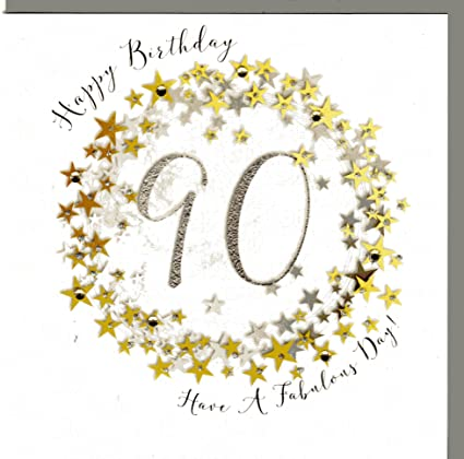 Wendy Jones de blackett tarjeta de felicitación para 90 ...