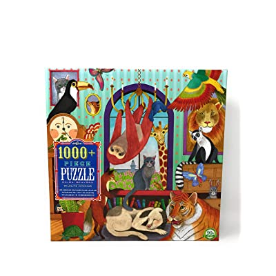 Eeboo, Puzzle Wildlife Interior 1008 Pieces: Toys & Games