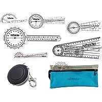AnthroFlex 8 Piece Goniometer Set with 6 Goniometers, Tape Measure, Transport Bag