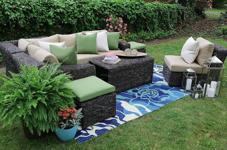 Amazon.com : AE Outdoor Williams 8 Piece Sectional With Sunbrella Fabric :  Garden U0026 Outdoor