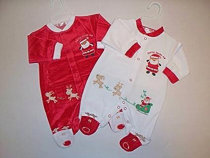 De nieve y Papá Noel para decorar pasteles para bebés de nieve con decoración navideña Pelele