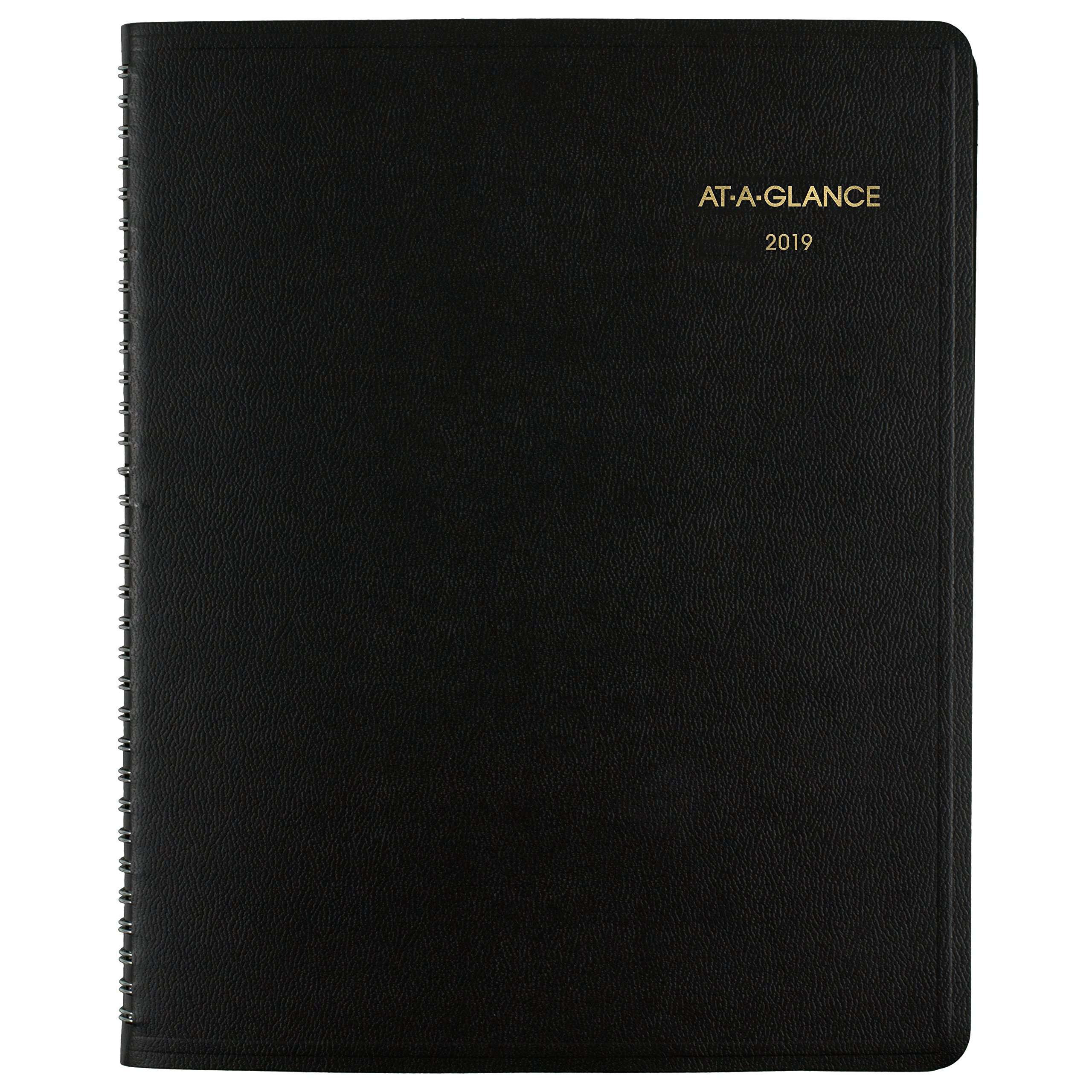 AT-A-GLANCE 2019 Weekly & Monthly Appointment Book, 8-1/2'' x 11'', Large, Triple-View, Black (70950V05)