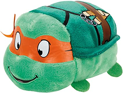 Ty - Tortugas Ninja Michelangelo: Máscara, 10 cm, Color Naranja (United Labels