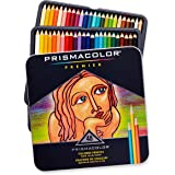 Prismacolor 3598T Premier Colored Pencils, Soft Core, 48-Count