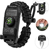 A2S Protection PSK Paracord Bracelet 8-in-1 Personal Survival Kit Urban & Outdoors Survival Knife, Fire Starter, Glass Breake