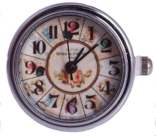 Reloj de cuarzo IhnSie Nostalgia Cronos con botón pulsador pulsera de cadena colgante anillo CU: Amazon.es: Joyería