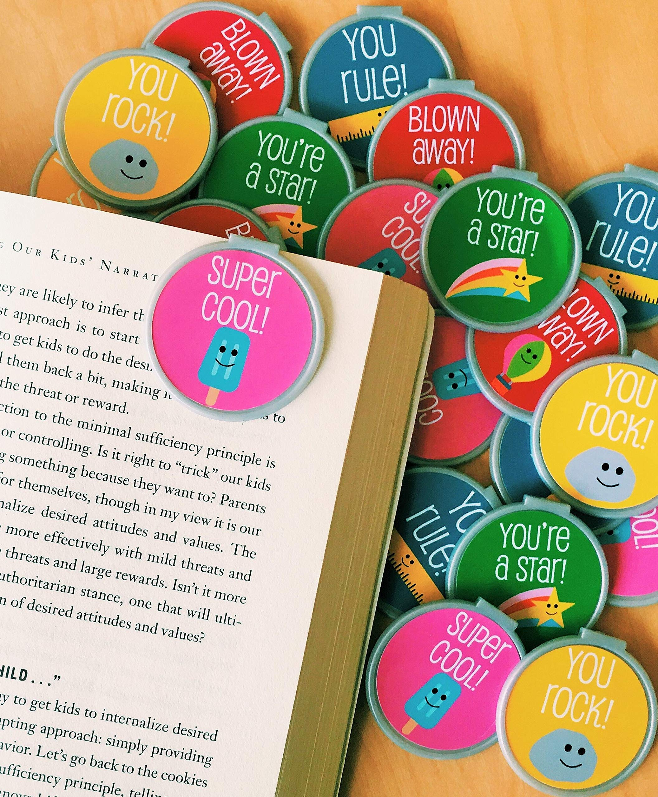 Trendy & Fun Bookmarks - 36 Bulk Bookmarks for Kids Girl's Boys- School Student Incentives – Library incentives – Reading Incentives - Party Favor Prizes - Classroom Reading Awards!