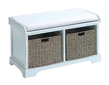 Remarkable Amazon Com Benzara Wood Basket Bench With Huge Storage Uwap Interior Chair Design Uwaporg