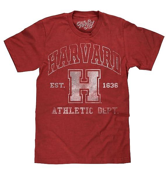 Tee Luv Harvard Athletic Department T-Shirt - Harvard University Shirt  Crimson Heather