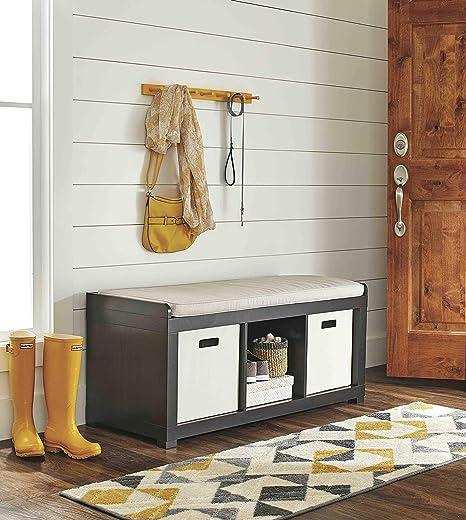 Wondrous 3 Cube Organizer Storage Bench In Espresso Pdpeps Interior Chair Design Pdpepsorg