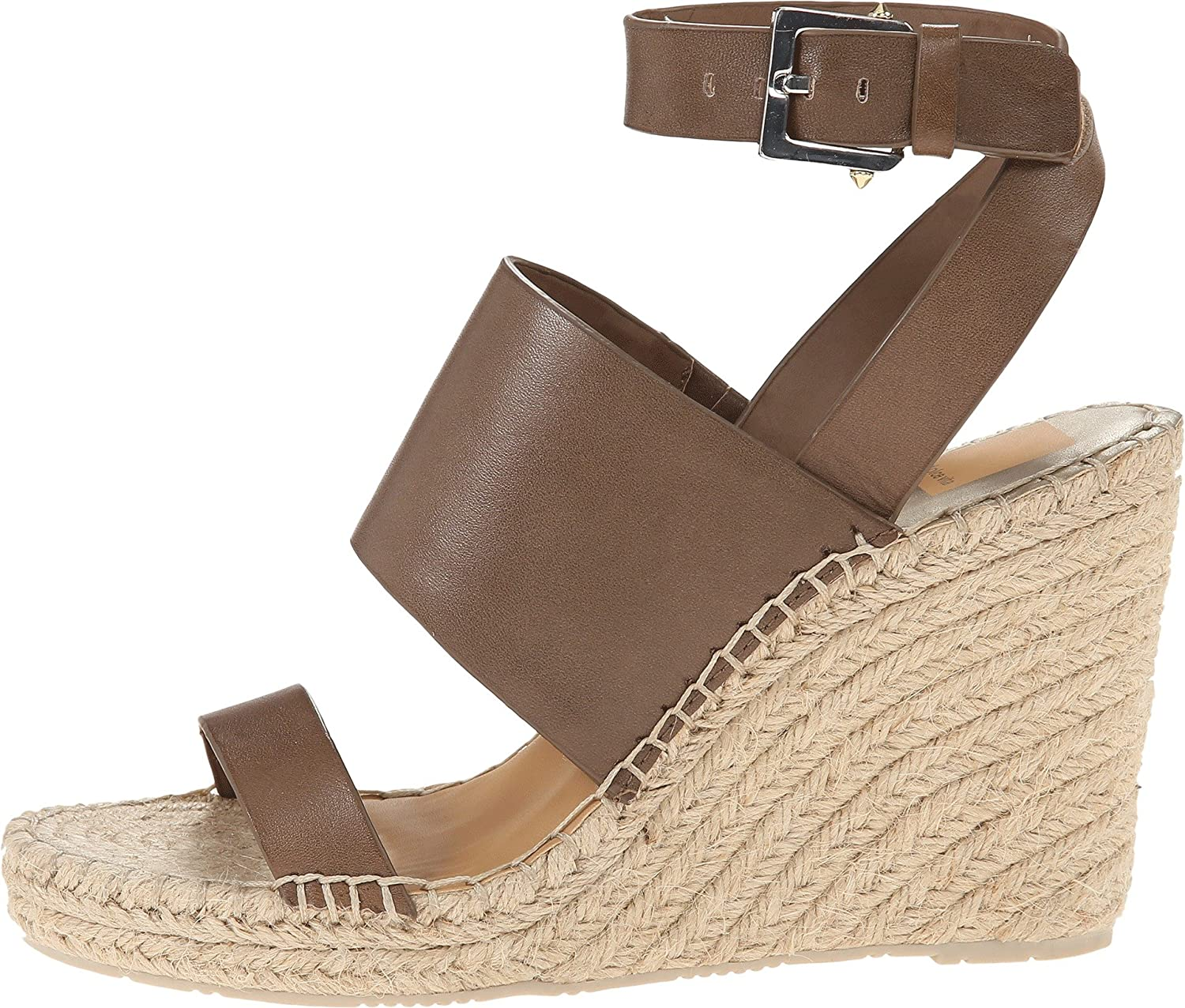 Dolce Wedge Vita Women's Nessah Espadrille Wedge Dolce B00Q6NBHSY 9 B(M) US|Olive Leather 536533