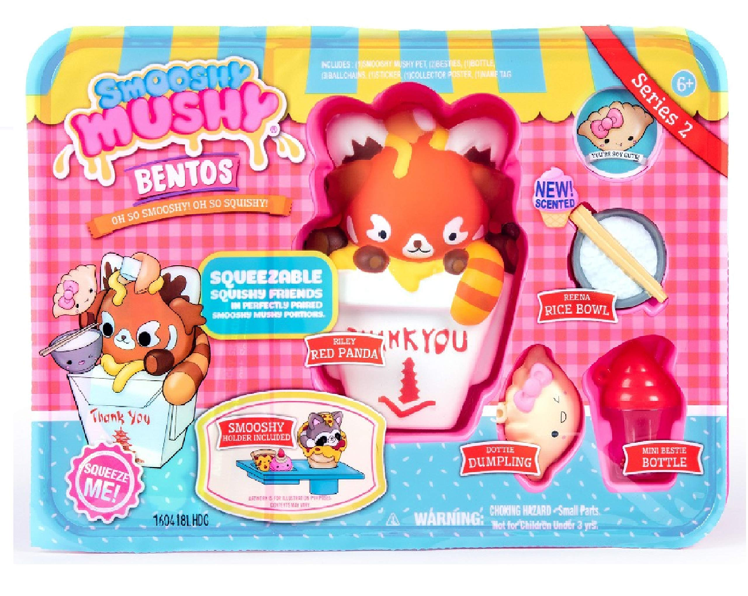 Smooshy Mushy Plastic Bentos Box Series 2 - Riley Red Panda Squishy Toy