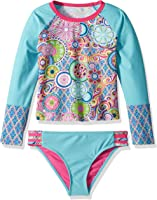 YMI Big Girls' Peace and Love Rash Guard
