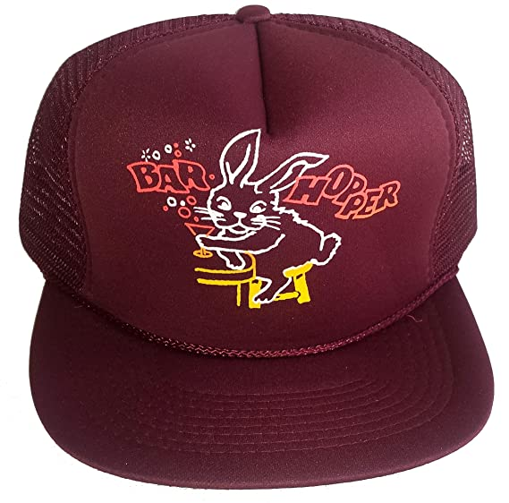 abcaa9e875a Amazon.com  Bar Hopper Snapback Mesh Trucker Hat Cap Bunny Party ...