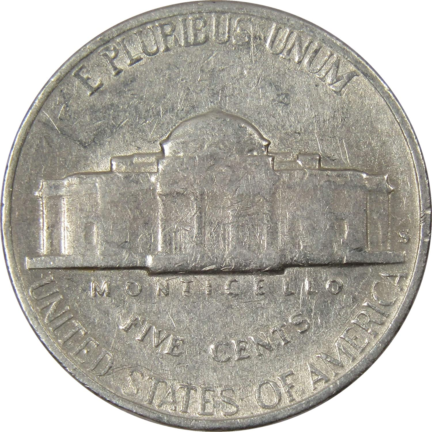 1949 S 5c Jefferson Nickel US Coin BU Uncirculated Mint State