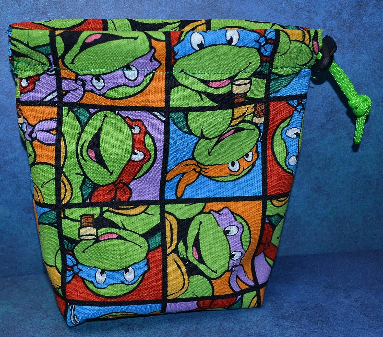 Teenage Mutant Ninja Turtles TMNT Cloth Drawstring Dice Bag