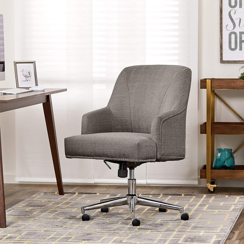 Serta Leighton Home Office Chair, Medium Gray