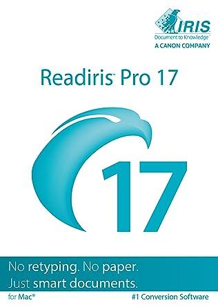 Amazon com: Readiris Pro 17 for Mac OS X - Conversion software