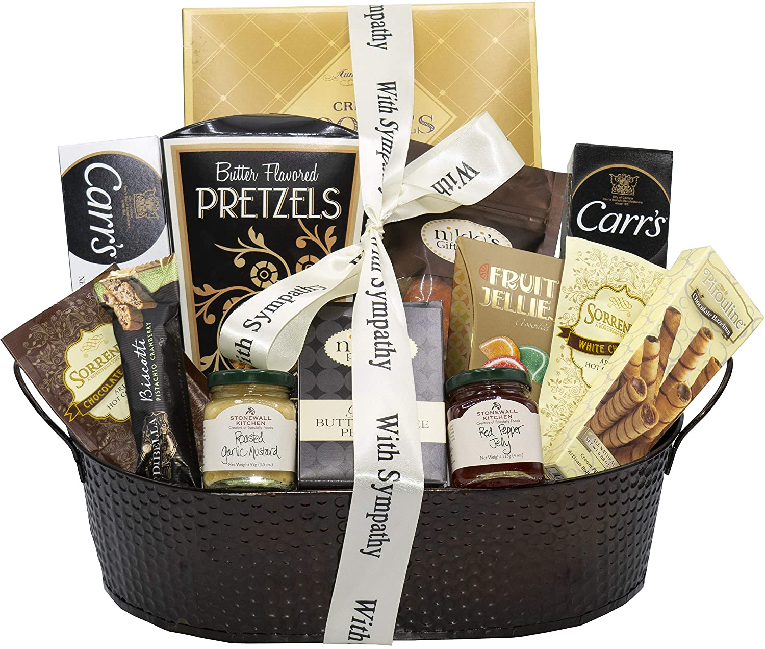 Amazon.com : With Sincere Sympathy Condolence Gift Basket : Gourmet Candy Gifts : Grocery & Gourmet Food