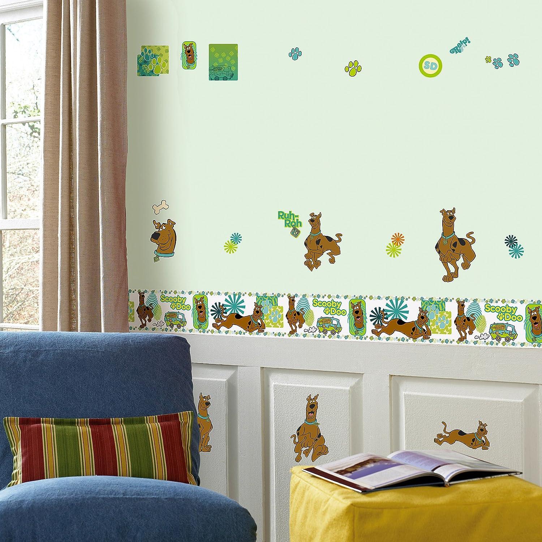 Scooby Doo Bedroom Decor Amazoncom Brewster Ps93992 Warner Brothers Scooby Doo Peel