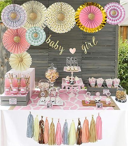 Amazon Com Yara Premium Baby Shower Decorations Kit For Girls Pink