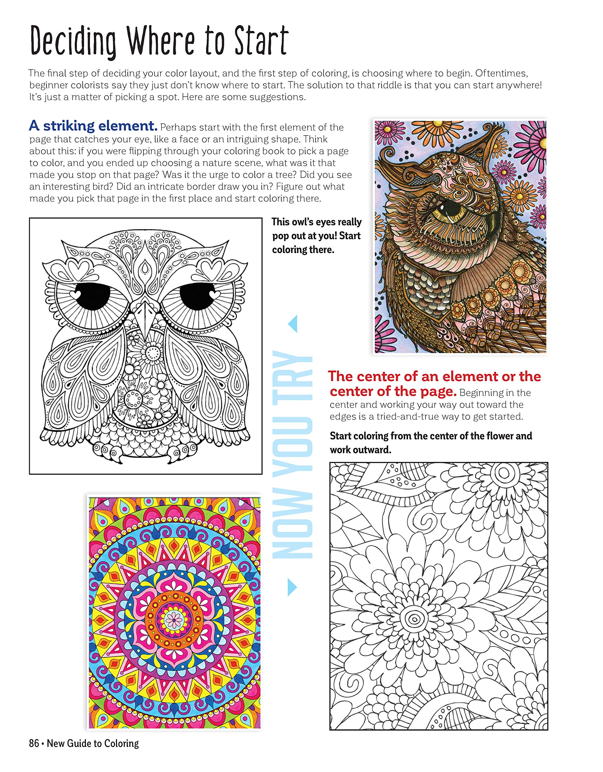 Amazon com new guide to coloring for crafts adult coloring books