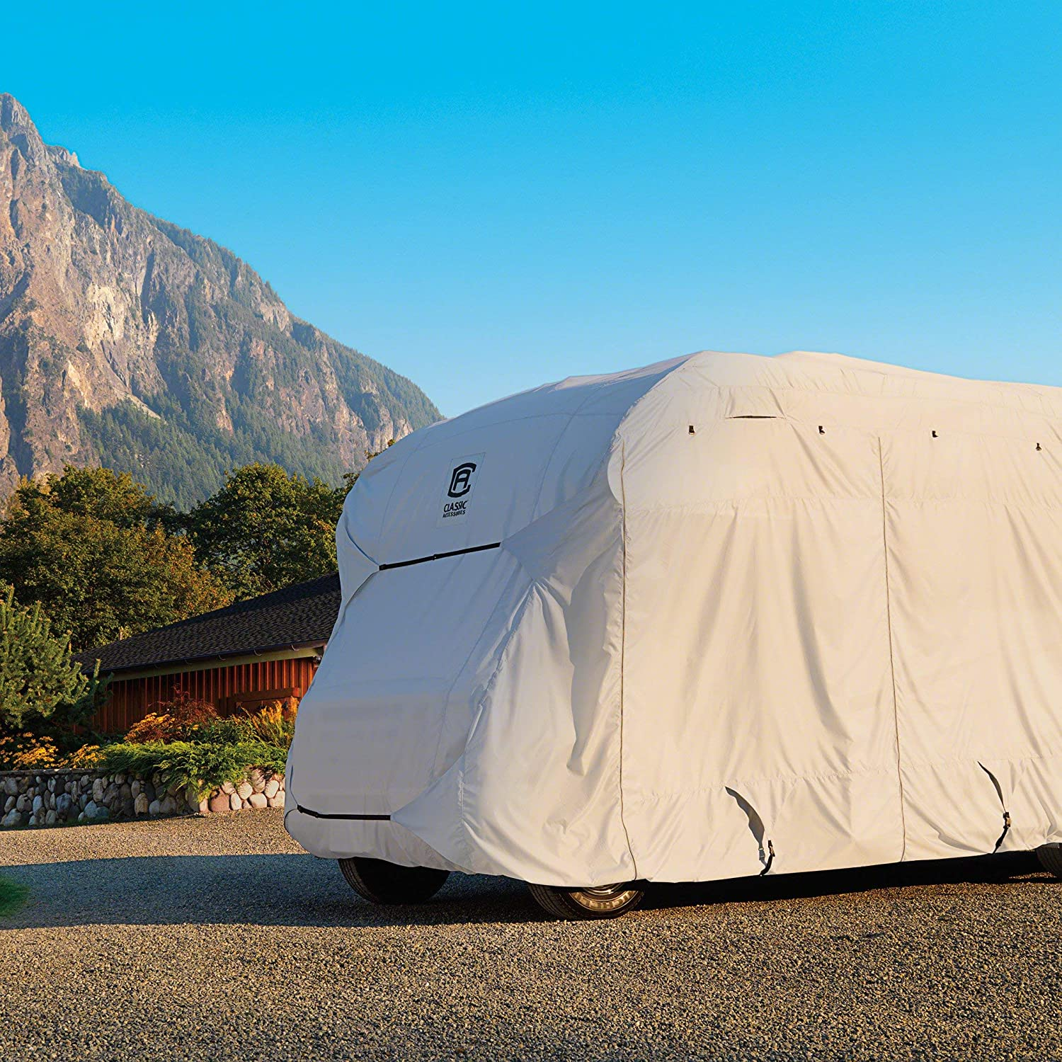 Classic Accessories PermaPro Heavy Duty R-Pod Travel Trailer Cover Limited Grey Renewed Model 3