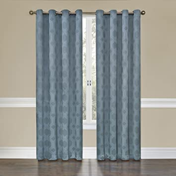 Amazon.com: Eclipse Tatum Grommet Blackout Curtain Panel, 84-Inch ...