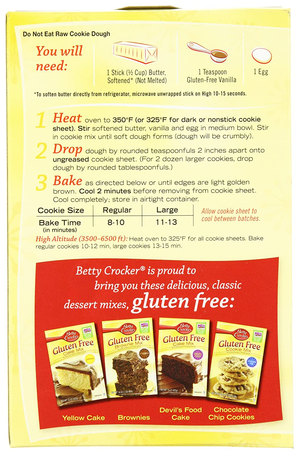 Amazon.com : Betty Crocker Gluten Free Chocolate Chip Cookie Mix ...