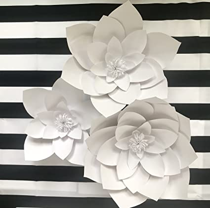 Amazon paper flower petal kit white 72 piece pack paper paper flower petal kit white 72 piece pack paper flowers decoration makes mightylinksfo