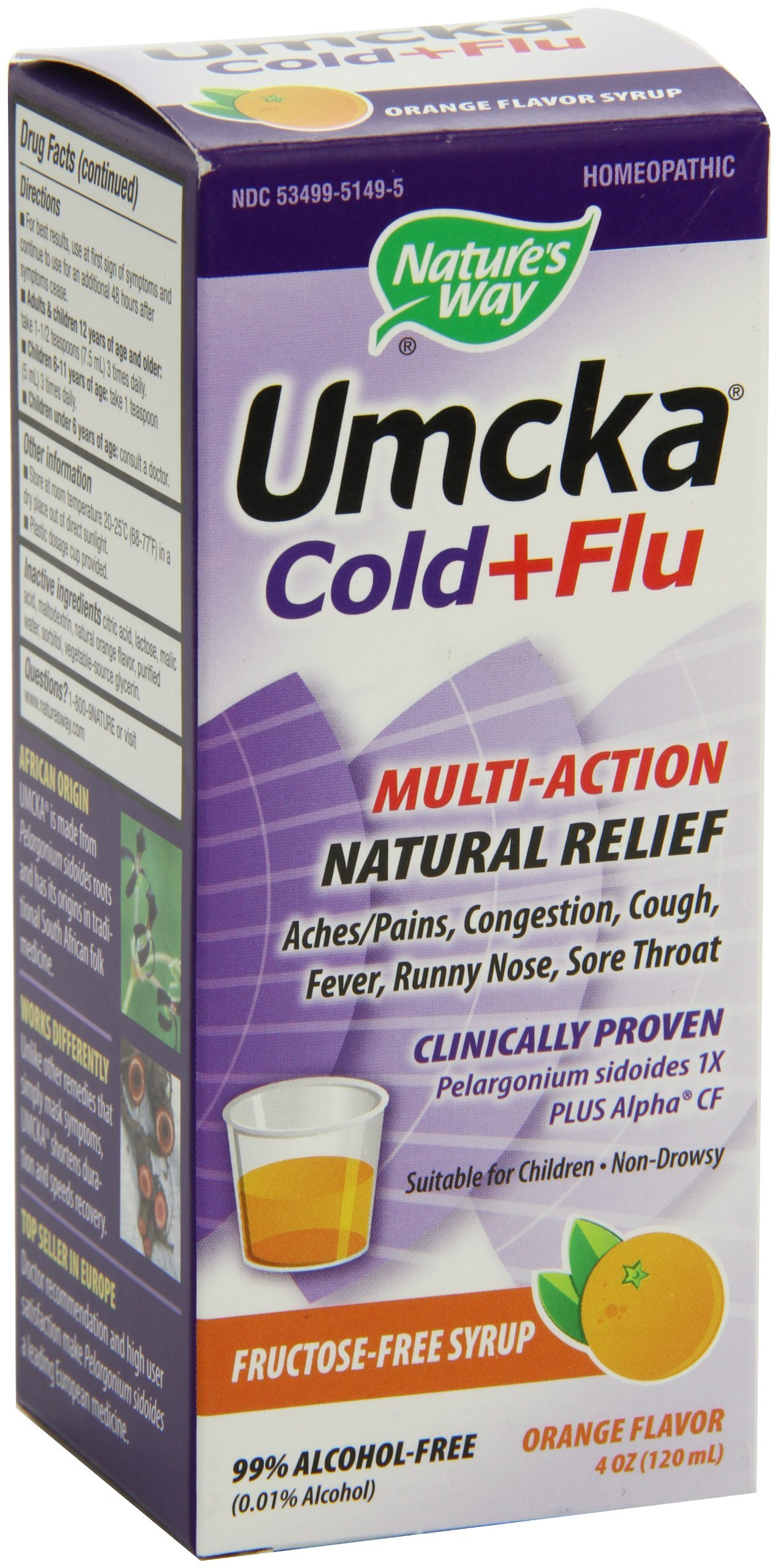 Umcka Cold Flu Orange Syrup