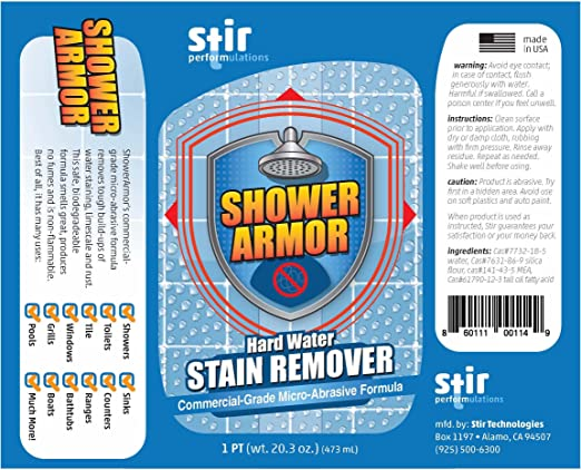Amazon Hard Water Stain Remover Shower Armor mercial Grade