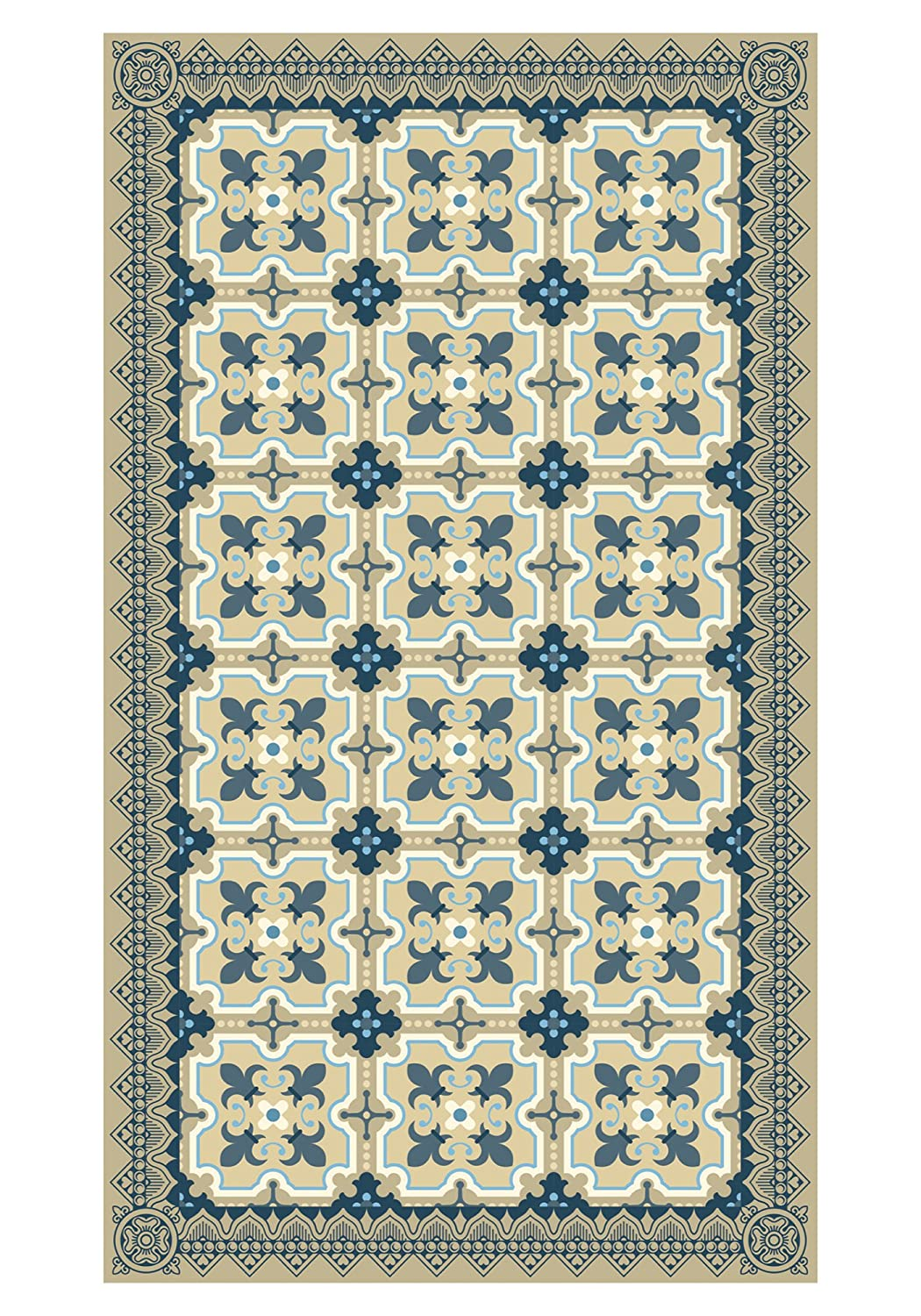Huella Deco H1012-DO Antique Tappeto Doormate Mat Floor, Vinile, 40x70 cm Koeso Srl