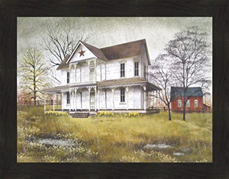 Amazon.com: April Showers by Billy Jacobs 22x28 Spring Rain ...