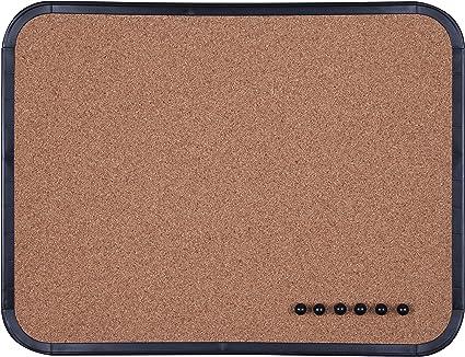 Tablero de corcho con marco negro, 216 x 279 mm: Amazon.es: Oficina y papelería