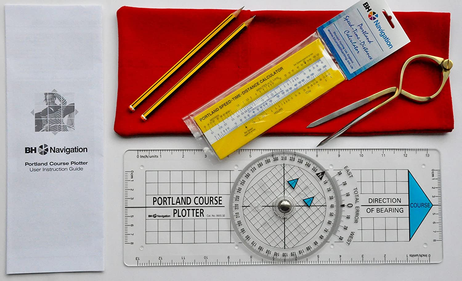 Portland Plotter, separadores, speed-time-distance Calculadora Navigation Kit (Rojo): Amazon.es: Deportes y aire libre