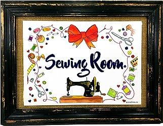 Sewing Room Nähen Nähzimmer Druck Poster Nähmaschine AnneSvea Sewing Handmade Deko