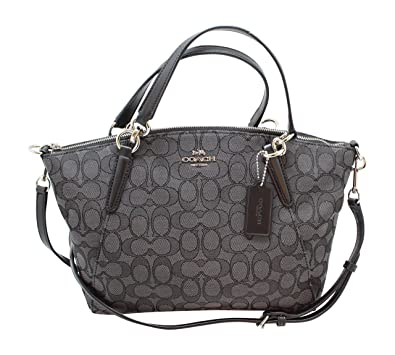 d9545a3ac0fc Coach F27582 Outline Signature Small Kelsey Crossbody Satchel Bag Black  Smoke   Black  Handbags  Amazon.com