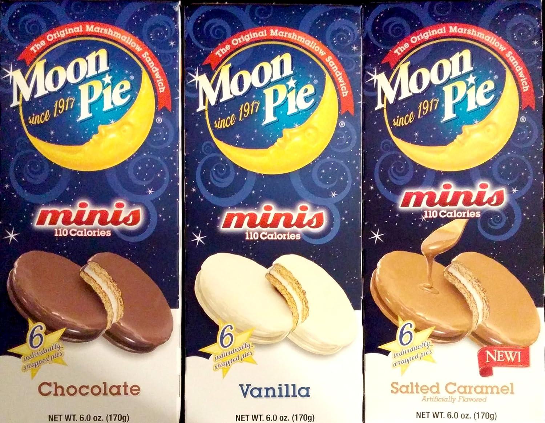 Moon Pie Minis 3 Pack Variety - (1 Chocolate - 1 Vanilla - 1 Salted Caramel)