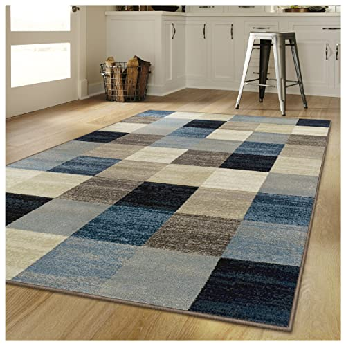 Superior s Rockaway Collection Area Rug, 10mm Pile Height with Jute Backing, Durable, Fashionable and Easy Maintenance, 6 x 9 – Multi Color