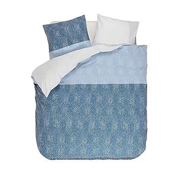 Esprit Tamo Flanell Bettwäsche Farbe Blue Blau Größe 135x200 80x80