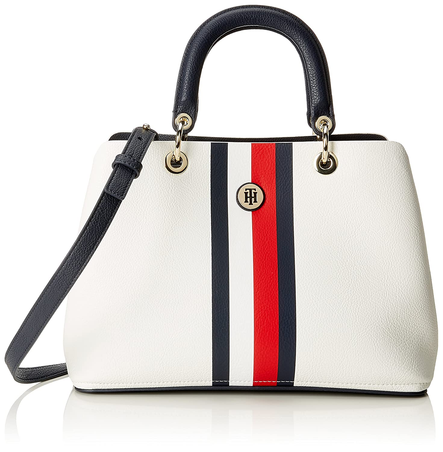 aeb870d759 Buy Tommy Hilfiger Th Core Satchel, Womenâ€TMS Bag, Blue - Corporate Mix,  15.5X23X33.5 cm - B X H T Online at Low Prices in India - Amazon.in