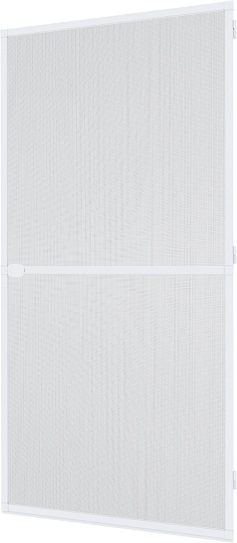 Windhager Tensor Plus, mosquitera Marco de Aluminio para Puertas, acortable Individualmente, 100 x 210 cm, Blanco, 03709