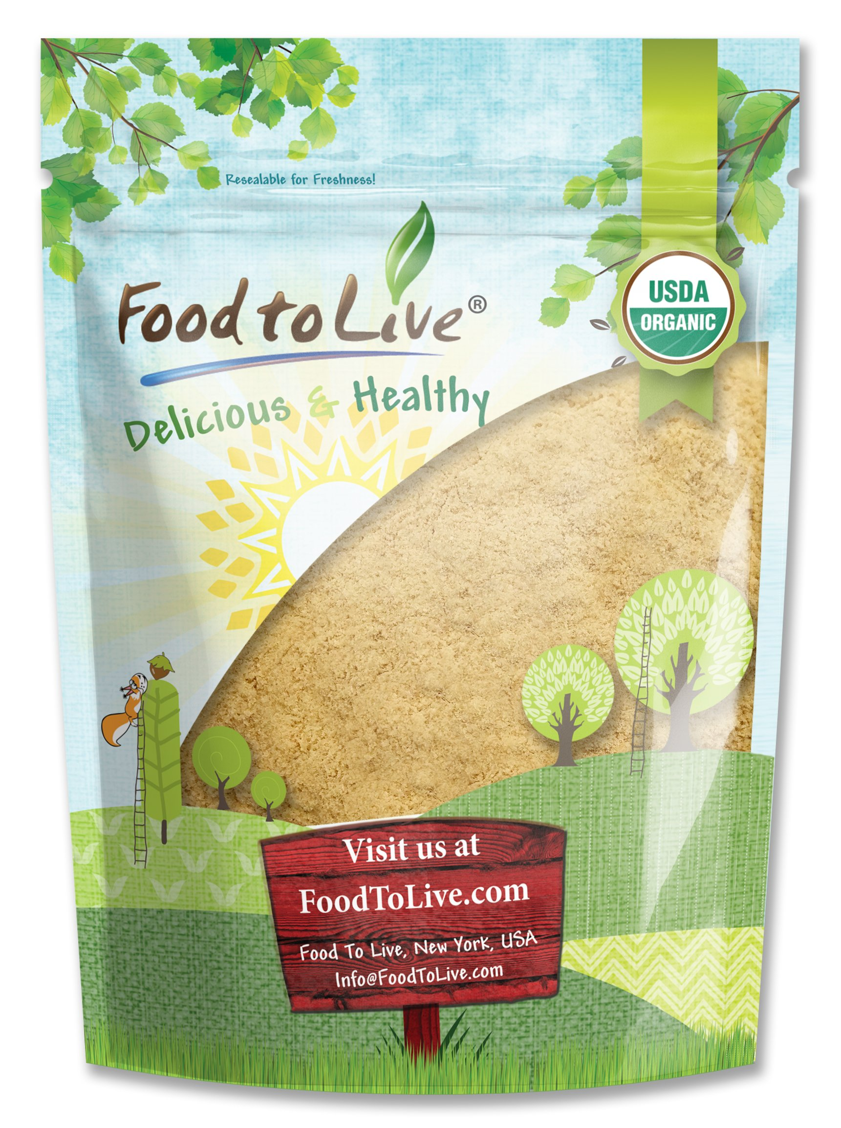Food to Live Certified Organic Maca Root Powder (Non-GMO, Kosher, Raw Ground Maca Root, Flour, Bulk) (2 Pounds)