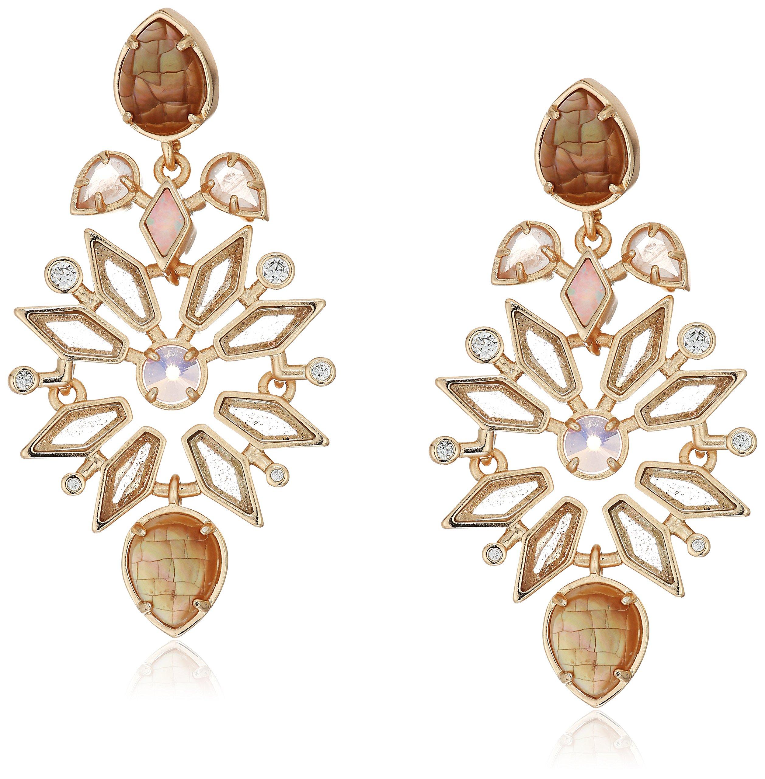 Kendra Scott Aurilla Rose Zellige Earrings by Kendra Scott