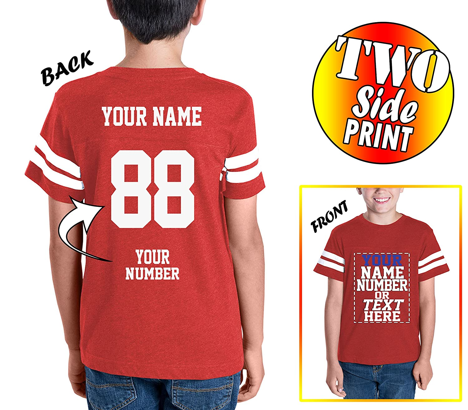 Custom Cotton Jerseys for Youth and Teens - Make Your...
