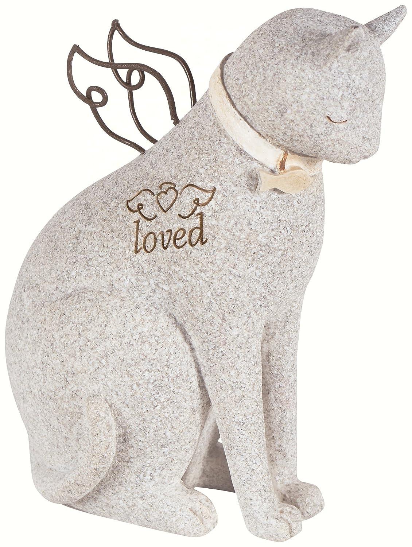 """Faithful Angel"" by Robin Davis Cat Figurine Carson Home Accents"