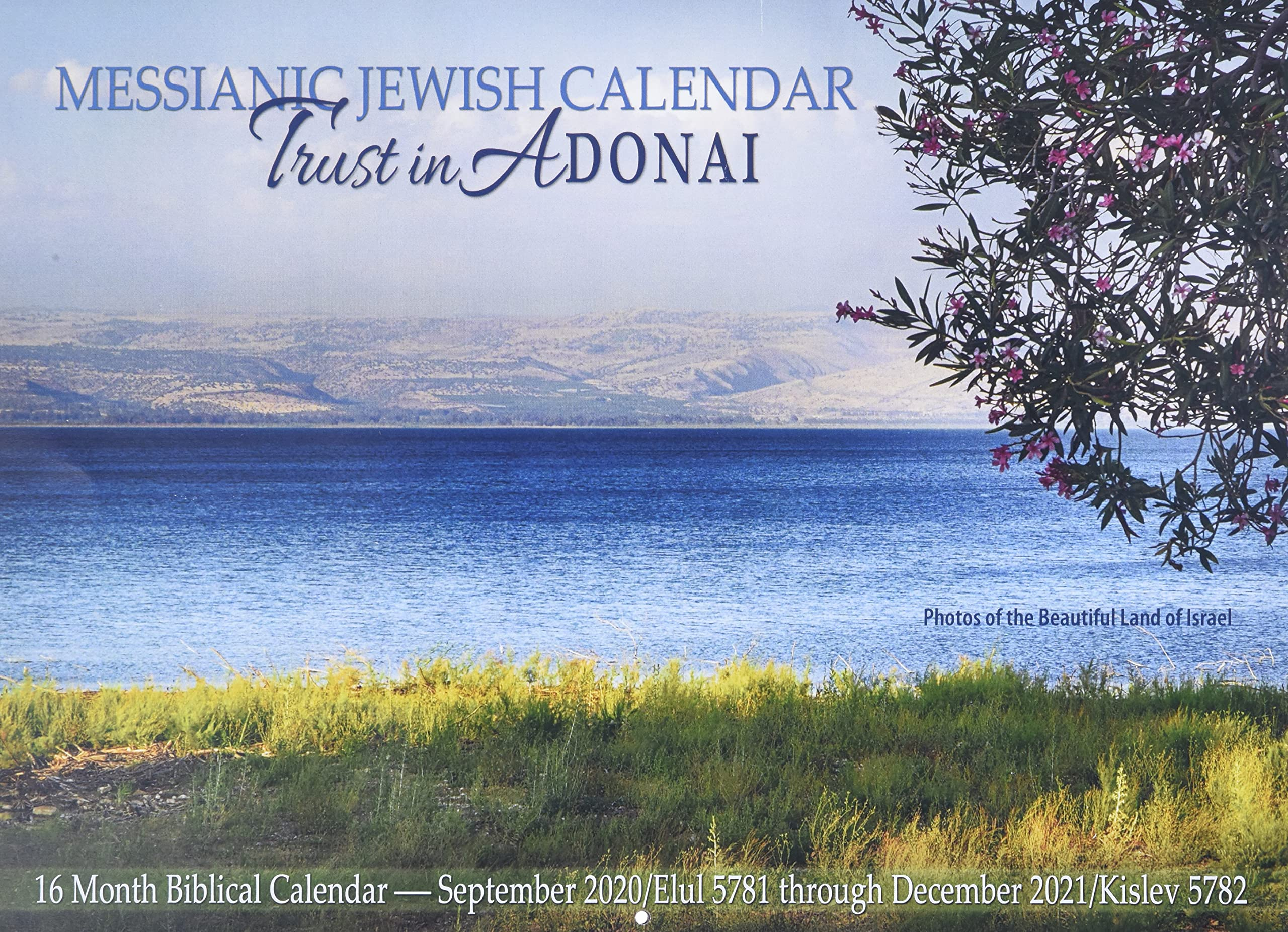 Jewish holidays and US federal holidays 2021 American Jewish Printable Calendar Modern and Fresh flower patterned design.