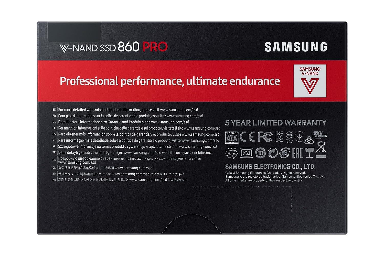 Disco Estado Solido SSD 256 GB, 560 megabytes//s Color Negro Samsung Pro
