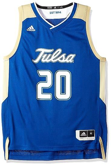 hot sales 7e56b ef7a8 adidas Tulsa Golden Hurricane NCAA 20 Blue Replica Basketball Jersey